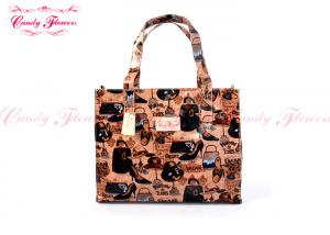 China Fashion Large Printed Reusable Shopping Bags Customized For Female on sale