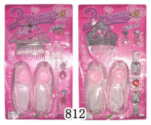 China Hot sell beauty toy set with pink  shoes ,earring,bracelet on sale