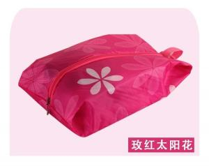 China Hot-selling Foldable Zipper Shoes bag Shoes pouch Shoes case with handle strap on sale