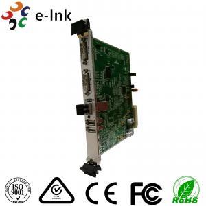 Quality 10G SFP+ Port 5U Rack Card Type 4K 3840*2160/60P DVI Video to Fiber Converter for sale