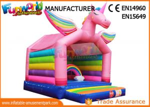 China Inflatable bouncers house for children inflatable unicorn bouncing castle jumping bouncer on sale