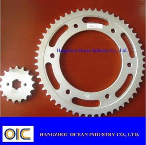 China Motorcycle Sprockets , type India CD-100 SPLENDOR RX-100 on sale