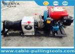 Power Construction Cable Winch Puller With Water Cooled Diesel Engine