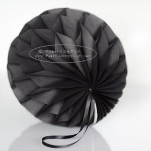 China Dark Grey Tissue Paper Honeycomb Balls Pom Poms With Satin Ribbon Loop For Hanging on sale