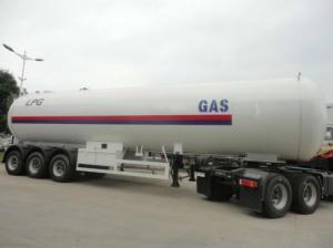China 26.915 Tons LPG Tank Trailer 58100 Liters Gas Lpg Storage Tank Trailer on sale