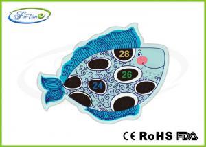 China Heat Sensitive Liquid Crystal Aquarium Thermometer Strip Customized Shape on sale