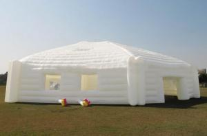 China Outdoor huge white hexagon inflatable yurt for sport and party event on sale