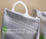Custom Frozen Food Insulation Foil Liner Aluminum Foil Bubble Thermal Insulation Bag,Imprint Portable Non-Woven Large In