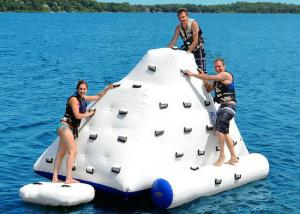 China Giant Iceberg Floating Climbing Wall , Water Park Inflatable Climbing Iceberg Mountain on sale