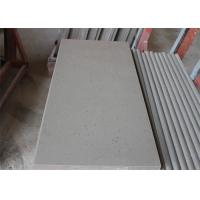Grey Beautiful Spot Quartz Table Top , Solid Surface Kitchen Countertops Acid Resistant