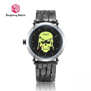 China Skeleton Warriors Design Male Analog Quartz Wrist Watch , Mens Bracelet Watch Round Case on sale