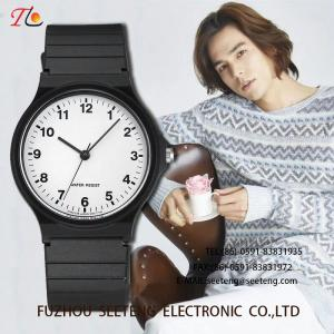 China wholesale Silicone watch  with alloycase and color customized strap Men's watch concise style classic style on sale