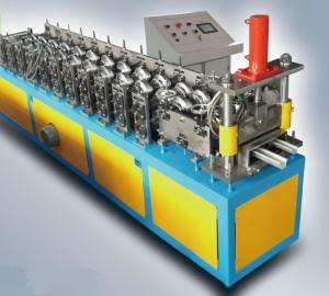 China High speed Steel Hat Cap / Stud And Track Roll Forming Machine Mitsubishi PLC on sale