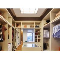 U Shaped Closet Organizers With Soft Close Drawers , modern walk in wardrobe shoe storage