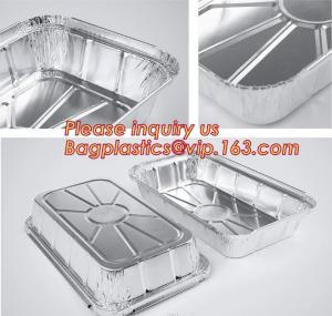 China Takeaway oven safe fast food take out disposable aluminum foil container,compartment round airline food aluminum foil co on sale