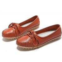 Rubber Loafer Slip On Shoes Genuine Leather Shoes Lady Dress Shoes Loafers Hollow