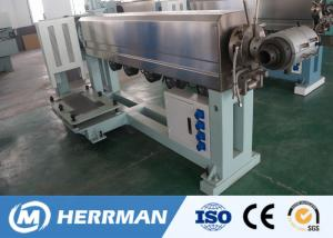 China Pvc Wire Extruder Cable Extrusion Line Movable Cooling Water Trough Energy Saving on sale