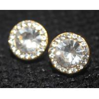 Alloy+copper+rhinestone 2013 latest metal casting jewelry simple design diamond earring for women