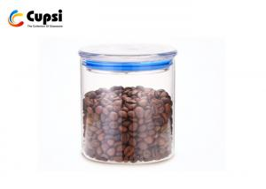 China Clear Glass Food Storage Glass Canisters With Lids Airtight High Effective on sale