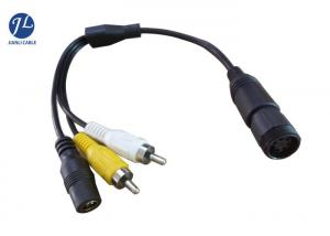 China 6 Pin CCTV Security Backup Camera Cable To RCA DC Power Cable For Truck / Bus on sale