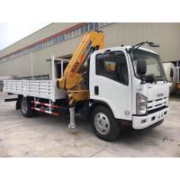 ISUZU Truck Mounted Telescopic Crane For Construction Material Transportation