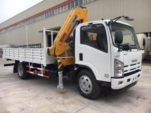 China ISUZU Mobile Crane Truck , Mounted Crane Truck With Folded Arm XCMG Crane on sale