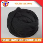 Black Virgin Polyester Tops 3Dx88MM - 120MM for Woolen Spinning Yarn, Virgin Polyester Top