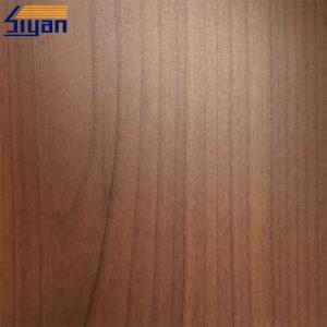 China Wood Grain PVC Furniture Film Non Adhesive , PVC Wood Grain Film For MDF on sale