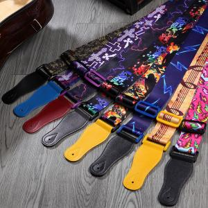 China Pantone Color Comfortable Personalized Guitar Straps For Acoustic Guitars  on sale