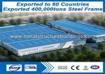 ISO9001 Prefab Steel Frame , Lightweight Metal Framing To Freetown Market