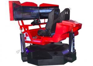 6 Dof Car Driving Racing Simulator Electric 3 Screens Dirt Dynamic