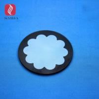 Round shape 3mm Custom Tempered toughened glass panel with black silk screen printed for led On-Ground Wallwasher