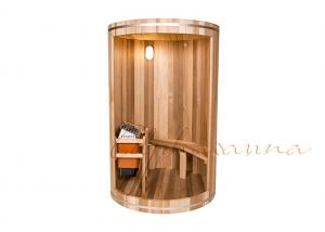 China Contemporary Western Red Cedar traditional steam sauna with 3.8 cm thick walls on sale