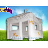 PVC Tarpaulin White Outdoor Event Tent Inflatable Photo Booth For Adult