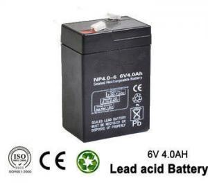 China батарея перезаряжаемые аварийного освещения 6в 4ах свинцовокислотная для УПС, освещая on sale