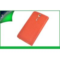 Wallet Genuine Leather Cell Phone Cover With Card Holder , Sony Xperia LT26i Case