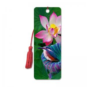 China Promotional Items 3D Lenticular Bookmark PET Material CMYK Printing on sale