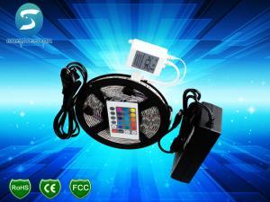 China PVC Flexible SMD 3528 LED Strip Light 12V / 24V RGB LED Lighting Strips on sale
