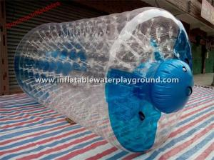 China Commercial Rent Inflatable Water Roller With 0.8mm PVC Tarpaulin Plug on sale