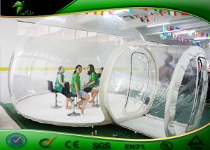 China Outdoor 4m Long Clear Inflatable Bubble Tent / 0.6mm PVC Dome Tent For Camping on sale