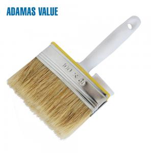 China Plastic Handle Natural Bristle Paint Brush With Natural Pig Bristle on sale