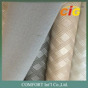 China Decoration Colorful 100% pvc faux leather , artificial leather fabric For Furniture supplier