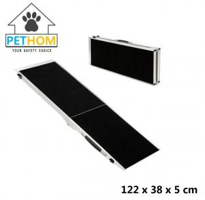 China Folding Pet Ramp Cats Dogs Bifold Stairs Ladder Travel Portable 135kg Aluminum ZX122A on sale