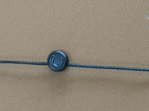China Elastic Loop Garment Seal Tags Hanging Tablet Eco Friendly For Clothes Brand on sale