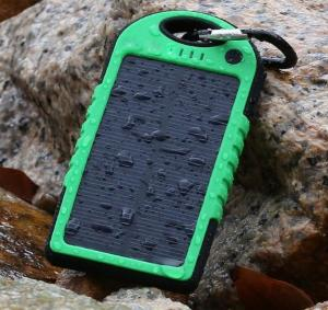 China solar power Accessories, ,DualUSB Solar Power Bank Battery Charger for iphone,samsung,5000mAh Dual-USB Waterproof on sale