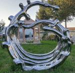 Mirror Surface Modern Outdoor Metal Sculpture Stainless Steel For Public Decoration