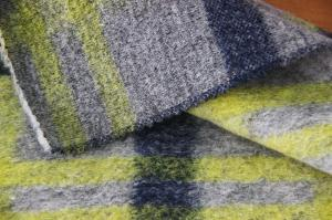 China Morden Designer Wool Tweed Upholstery Fabric , Soft Hand Feel Petite Wool Coating Fabric on sale