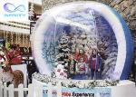 Customized size Outside Giant Christmas Inflatable Snow Globe Decoration