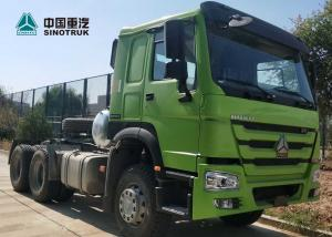 China HOWO Drawing Head Tractor Truck LHD Single Berth Cabin 10 Wheels Green Color on sale