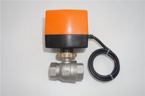 China 12V 24V Stainless Steel Motorized Ball Valve 2 Way / 3 Way CE ROHS Approved on sale